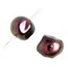 Glass 8X9mm Shaped Cube Beads Metallic Bronze - Strung